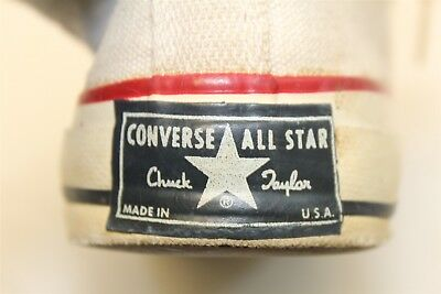 Vintage Converse All Star Chuck Taylor RARE BLUE Label Mens 6 USA MADE Shoes h