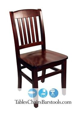 Wood Mahogany Chair #8381 Restaurant Dining Seats Seating Furniture.