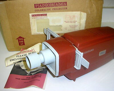 Vintage ReTRo Mid Century Panorama Manual Slide Projector Viewer in Box