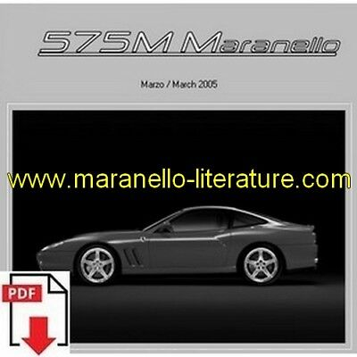 2005 Ferrari 575M Maranello spare parts catalogue PDF (uk)