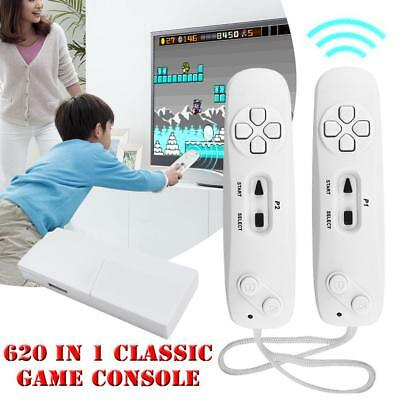 Retro Mini TV Games Console 620 Games Built-In 2 Wireless Controller Kids Gift