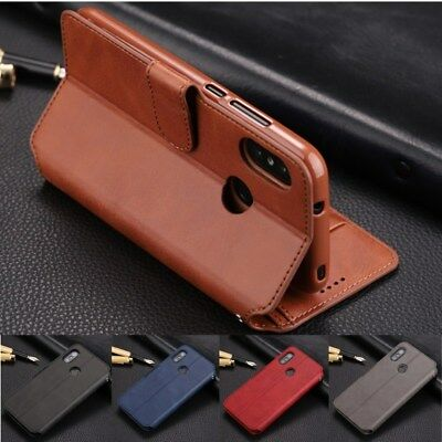 Luxury Leather Wallet Case Flip Card Slot Holder Kickstand Cover For Smart Phone