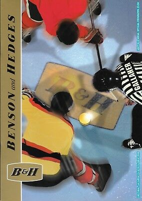 Bensons & Hedges ICE HOCKEY Cup Final - London v Manchester - 1999 programme