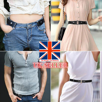 Buckle-Free Elastic Belts Women's Invisible Belt for Jeans No Bulge Hassle UK