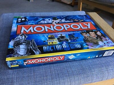 DOCTOR WHO MONOPOLY Barely Used Matt Smith Edition