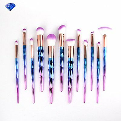 10pcs Unicorn Spiral Makeup Brushes Set Eyeshadow Powder Brushes kit Cosmetic US