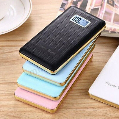 Ultra Thin LED 20000mAh Portable External Battery Charger Power Bank for