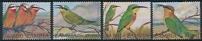 [H16412] Zambia 2002 BEE-EATERS BIRDS - Fauna Good set of stamps very fine MNH