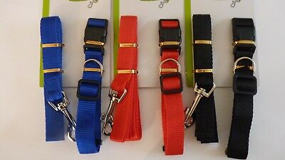 Dog Lead And Collar. Adjustable Collar 1.2m Lead And Collar Adjustable 200mm App