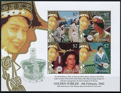 [H11009] Grenada 2002 : Queen Elizabeth II - Good Very Fine MNH Sheet