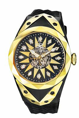 New Mens Watchstar SuperStar 49mm Automatic Stealth Fighter Jet Skeleton Watch