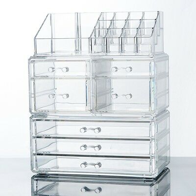 Cosmetic Organizer Makeup Case Holder with Drawers Jewelry Storage Box
