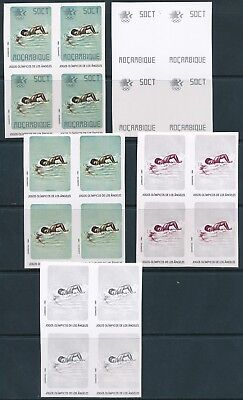 [E09075] Mozambique1984 Sport good stamps proof color bloc 4  VF MNH imperf