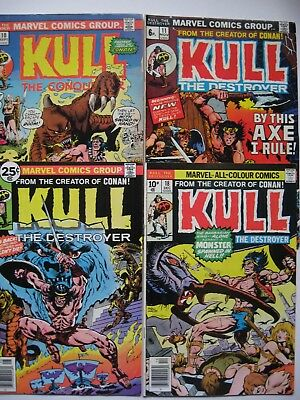 """kull The Destroyer"" Lot Of 4 Bronze Age Comics,# 10,11,16,18, Severin/ploog Art"