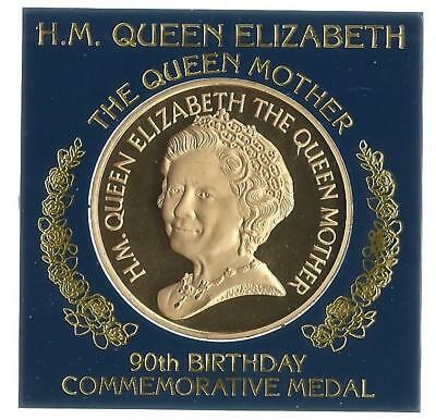 The Queen MOTHER 90TH BIRTHDAY Medallion