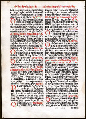 Various Petitions Including Holy Matrimony & Serenity 1566  Missal Leaf