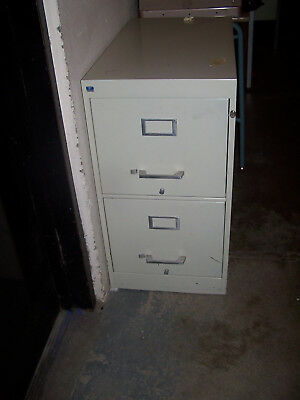 """""""used"""" Cole 2 Drawer Metal File Cabinet   -Pickup Only Mv5B"""