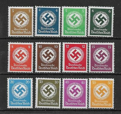 Germany 3rd Reich Mi# 132-143 Official Stamps Issued 1934 MH *