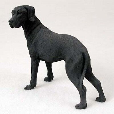 GREAT DANE Dog HAND PAINTED resin FIGURINE Statue COLLECTIBLE Black UNCROPPED