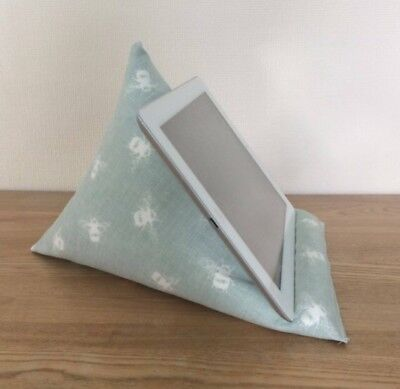Bumble bees tablet cushion, blue iPad stand kindle holder phone book beanbag
