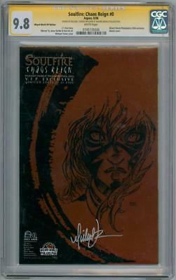 Soulfire Chaos Reign #0 Ww Vip Cgc 9.8 Signature Series Signed Michael Turner
