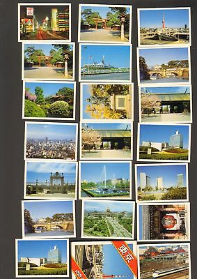 Undated Travel Souvenir Genuine 20 Miniature Photographs Tokyo Japan