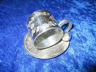 Meriden B Co Silverplate Lily Pad With Bud Blossom Napkin Ring No Monogram # 168
