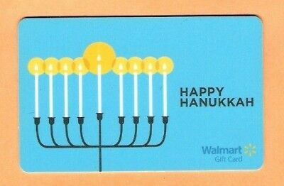 Collectible Walmart Gift Card - Happy Hanukkah - No Cash Value - VL8884