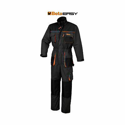 Beta Tools Work Overalls T/C Canvas - Oxford Insets - Grey - Small - 079050901