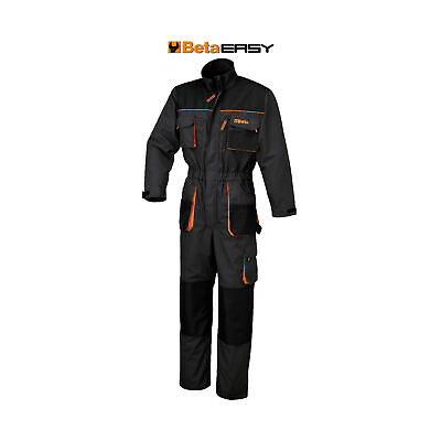 Beta Tools Work Overalls T/C Canvas - Oxford Insets - Grey - Large - 079050903