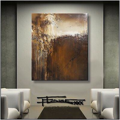 Abstract Painting Modern Canvas Wall Art Large, Framed, Signed US ELOISExxx