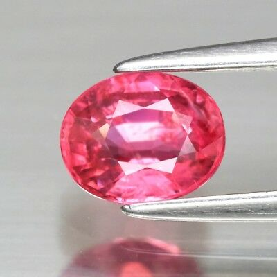 CERTIFICATE Inc.*0.81ct 6x5mm Oval Natural Purplish Pink Spinel