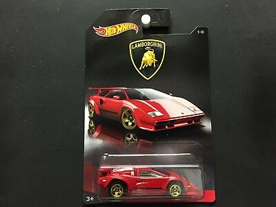 Hot Wheels 2017 Lamborghini Series Countach 1 8 Red
