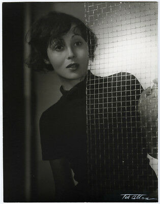 Hand Signed Ted Allan 1930s Spectacular Large Format Luise Rainer Photograph