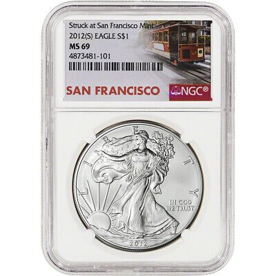 2012-(S) American Silver Eagle - NGC MS69 Trolley Label