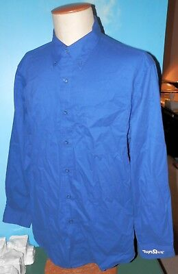 Toys R Us Blue Employee Manager Long sleeve Shirt Mens Size Large New