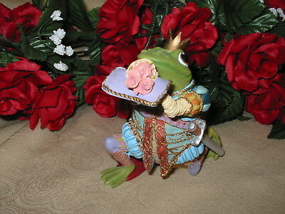 """1996 Royalty Prince Frog """"Sir Hop A lot"""" from Camelot Frogs Collection, NO COA"""