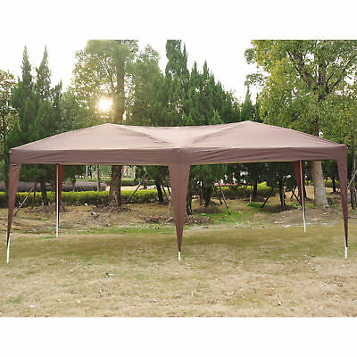 10x20FT Folding Outdoor Gazebo Patio Canopy Pop Up Tent for Party Wedding Coffee