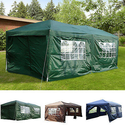 10 x 20ft Pop Up Canopy Tent Patio Gazebo Wedding Party Outdoor Shelter 2 color
