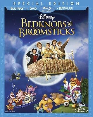 BEDKNOBS AND BROOMSTICKS New Sealed Blu-ray + DVD Special Edition Disney