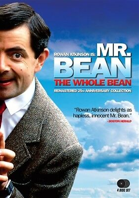 MR BEAN THE WHOLE BEAN New Sealed 4 DVD Set Remastered 25th Anniversary Edition
