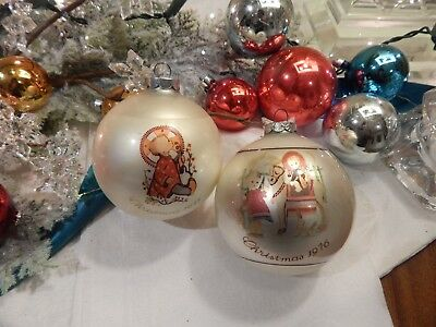 Vtg Sister Berta Hummel 1975 1976 Christmas Ornaments 2nd 3rd series Hummel