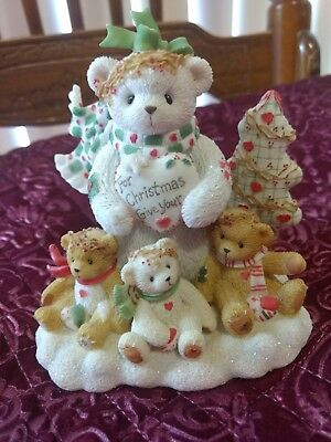 Cherished Teddies Marla Snowman For Christmas Give Your Love