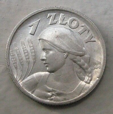 """Poland  1 zloty  1925 """" London"""". Very attractive and  beautiful ."""