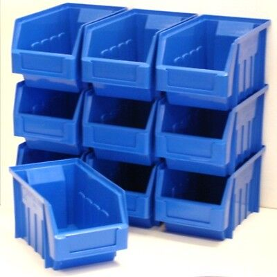 12 x Blue Size 3 Very Good Quality Plastic Parts Storage Bins Boxes