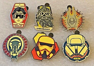 Disney pin 127756 Star Wars: SOLO 6 Pin Booster Pack complete set
