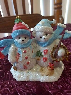 Cherished Teddies Sari And  Chrysta The Love Of Friendship Never Melts