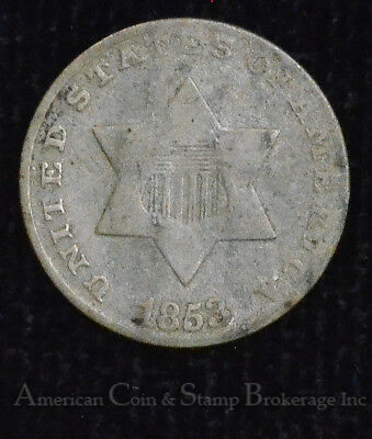 3c Three Cents 1853 3 Cent Silver Trime Popular