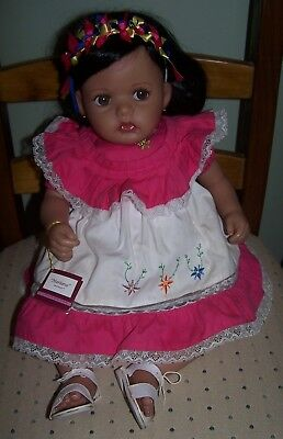 """mariana"" - Real Touch Hispanic Vinyl Doll - 22"""