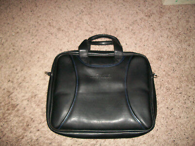 West 57th Street by Hilton Club Black Leather Padded Briefcase ./ Carry-On
